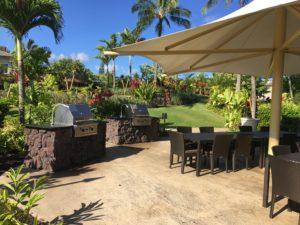 Westin Kauai bbq area